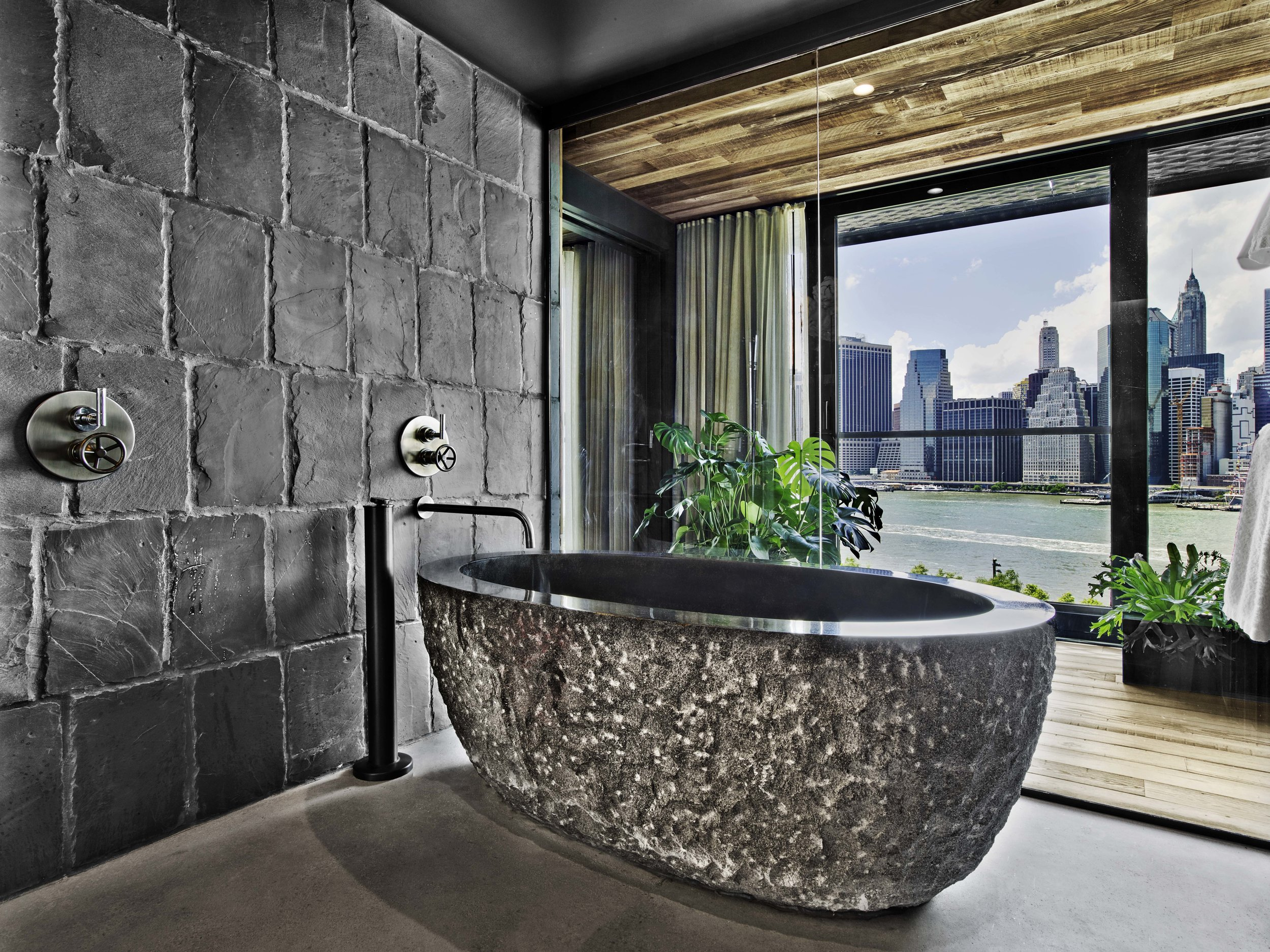 1 Hotel Brooklyn Bridge River House Suite Bathroom
