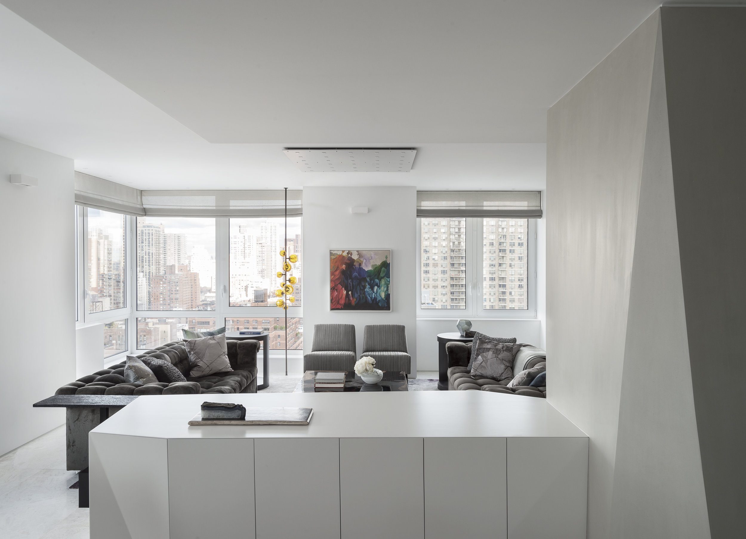 East 77th Street Apartment Living Room from the Dining Room