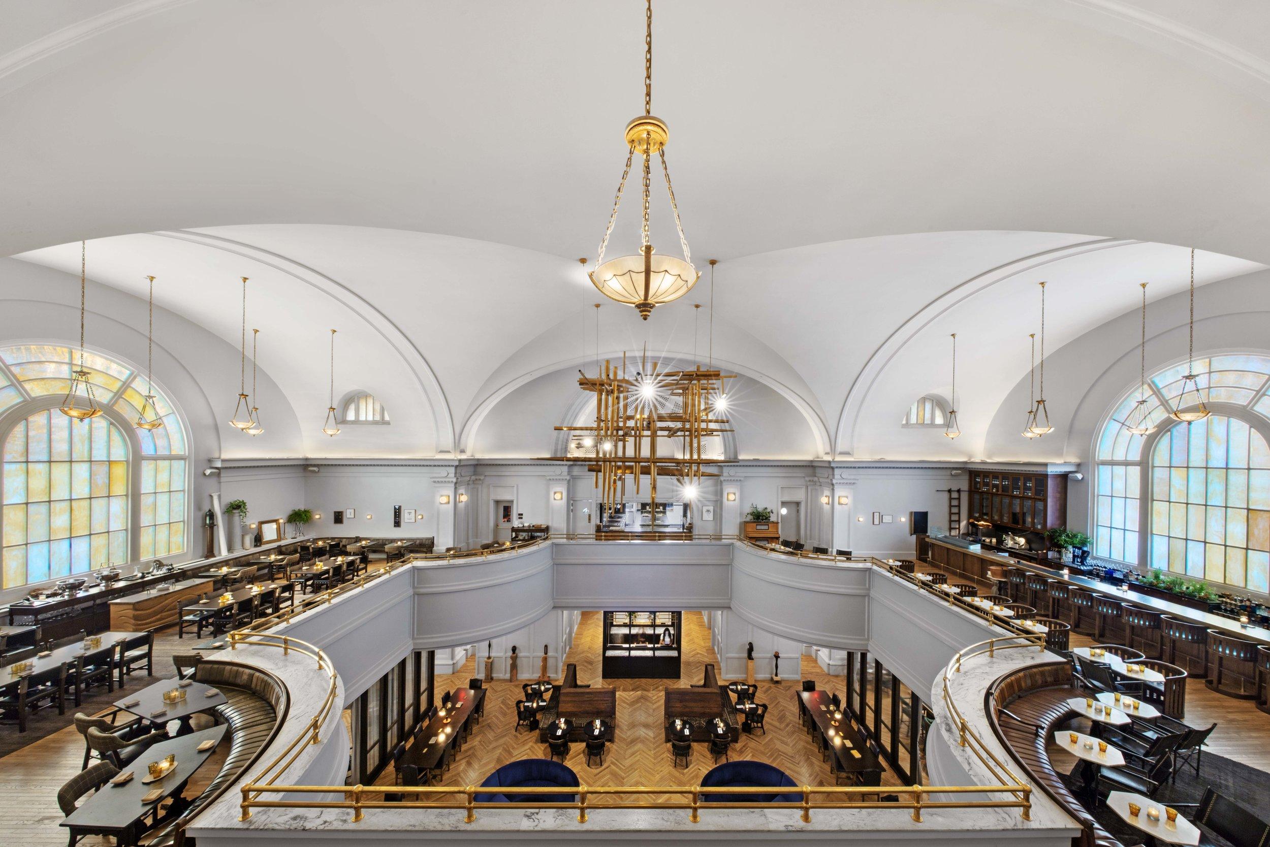 The Line Hotel DC's restaurant, A Rake's Progress, and lobby