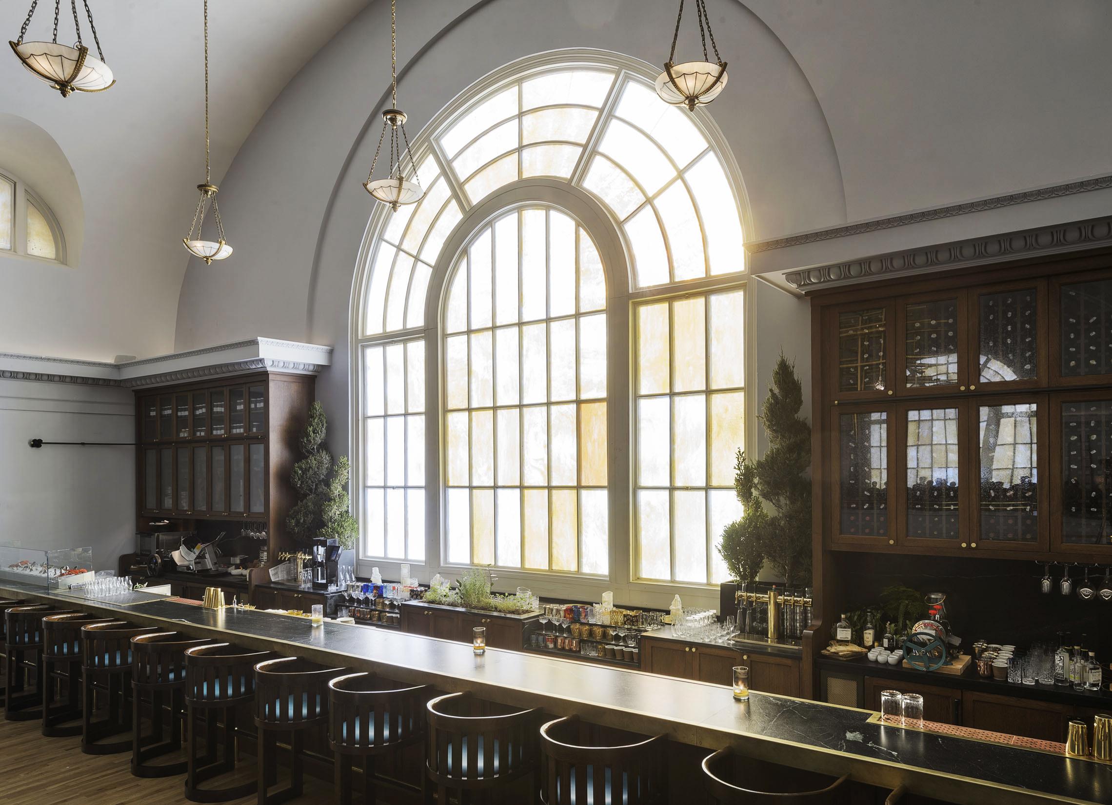 A Rake's Progress Bar and Church Window