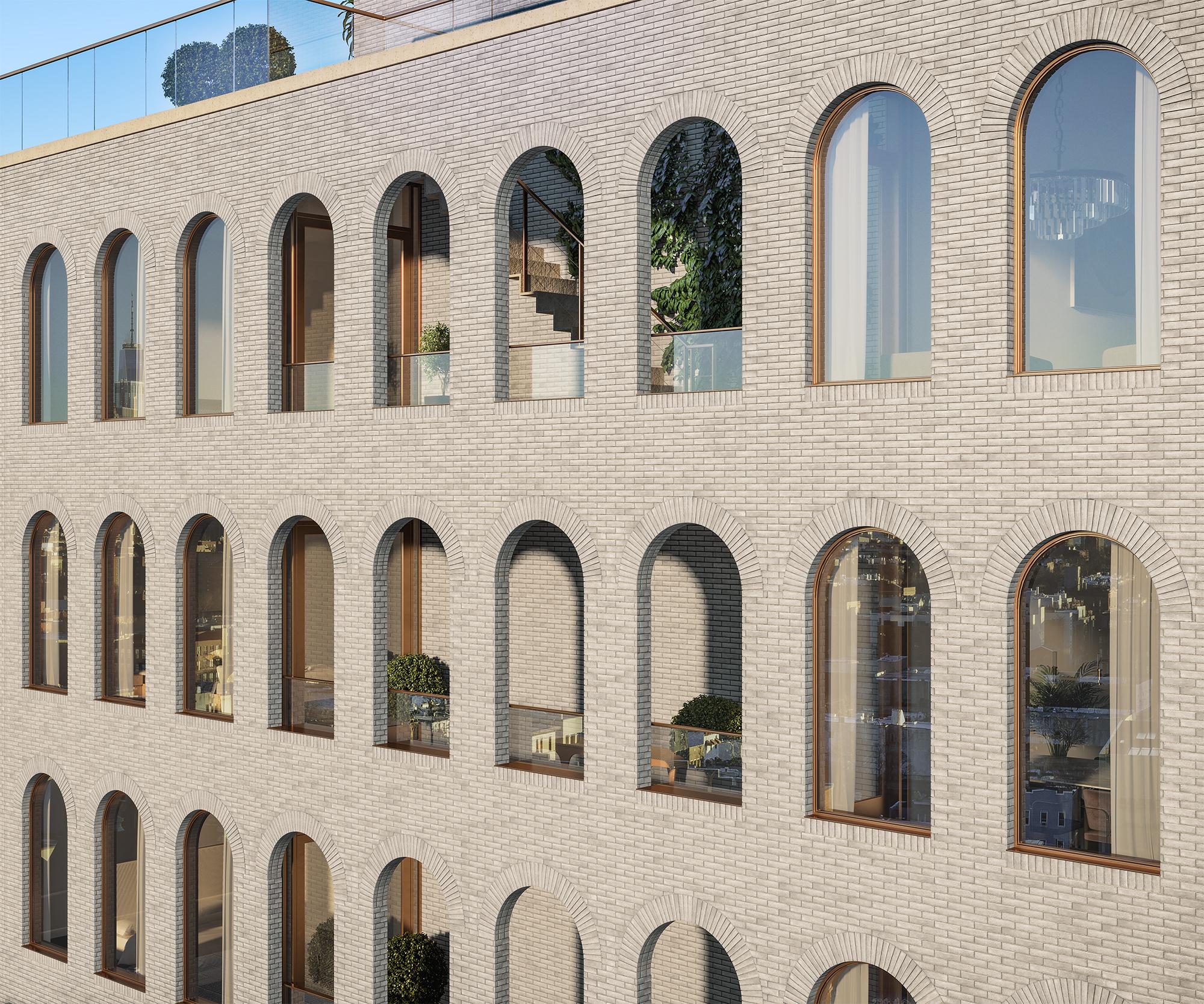 Parlour Brooklyn Exterior Facade Detail Rendering