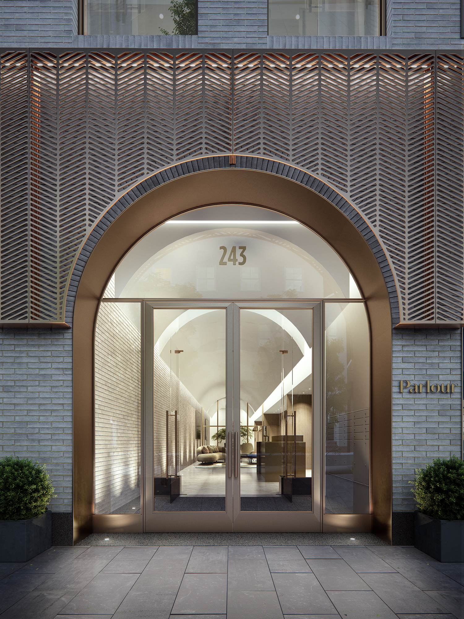 Parlour Brooklyn Exterior Entrance Rendering