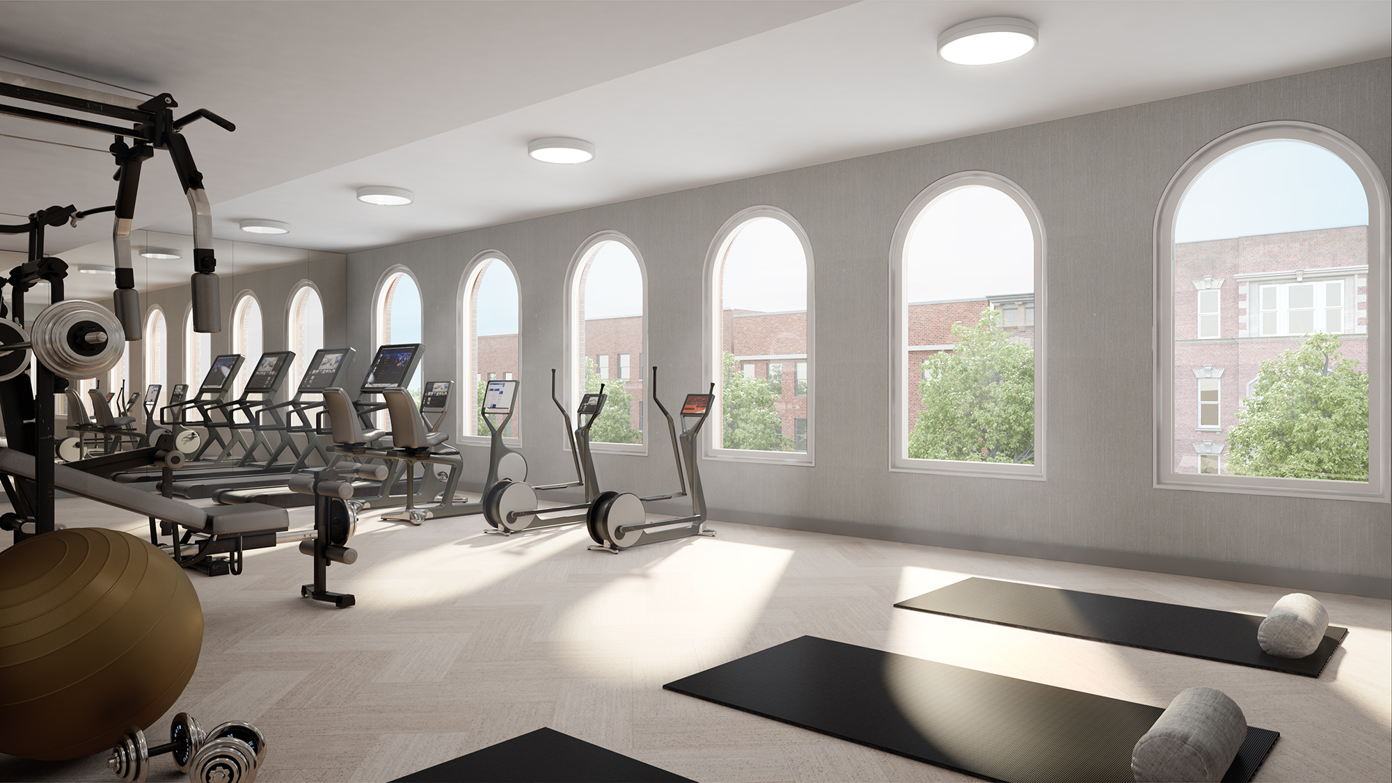 Parlour Brooklyn Gym Rendering
