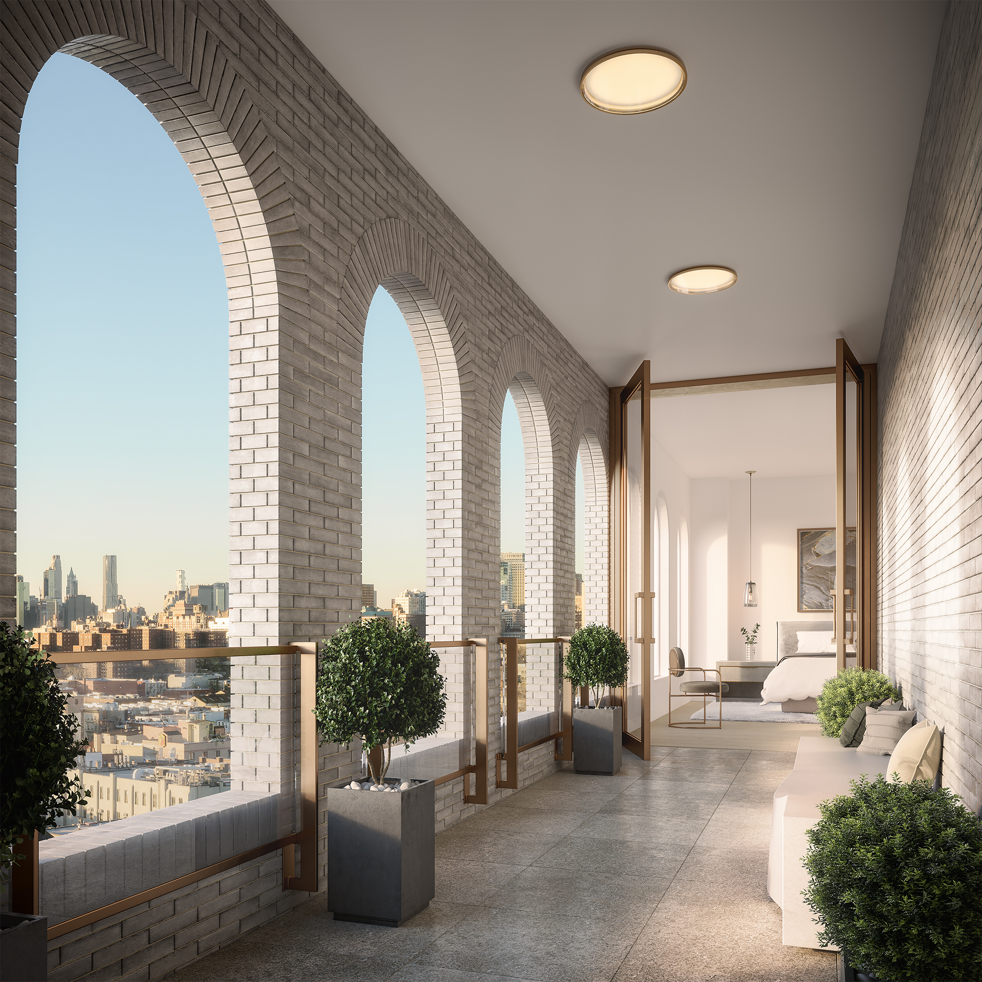 Parlour Brooklyn Pent House Arcade Rendering