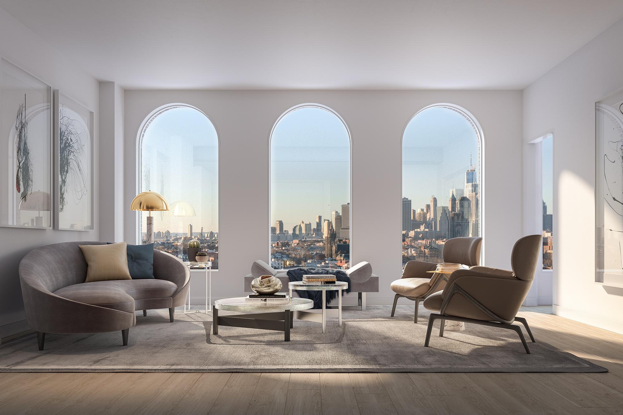 Parlour Brooklyn Living Room Rendering