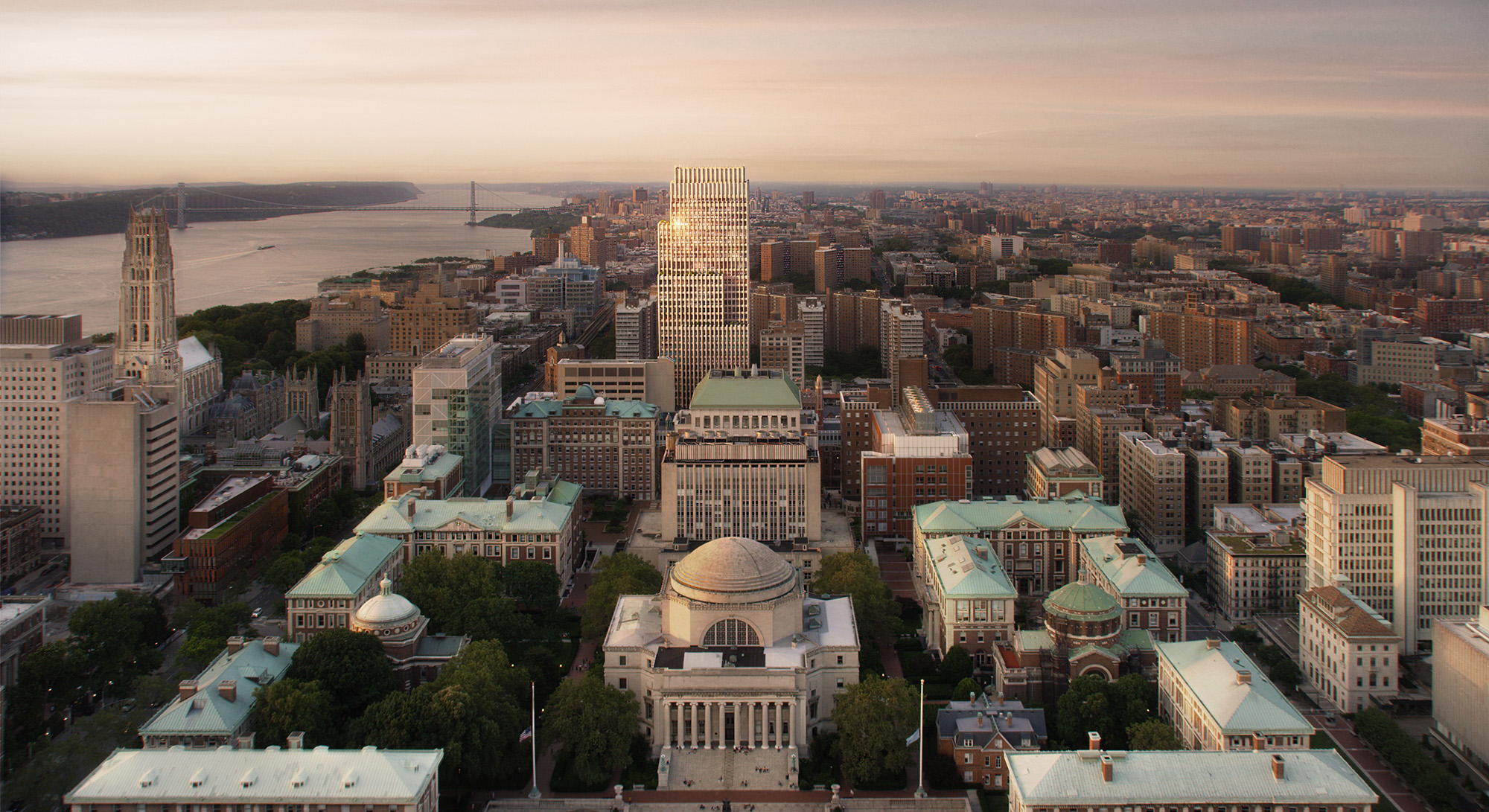 The Vandewater Exterior Rendering with Columbia University