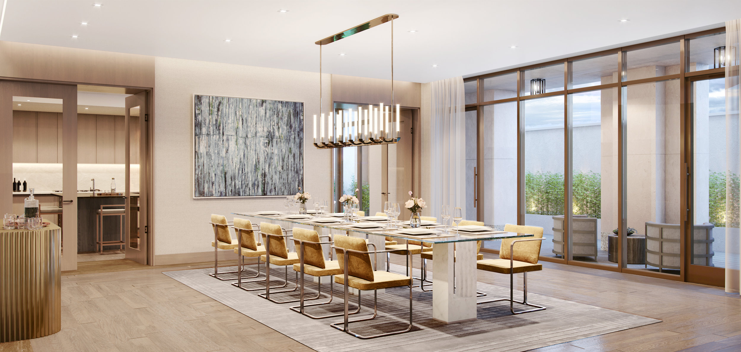 Vandewater Private Dining Room Rendering