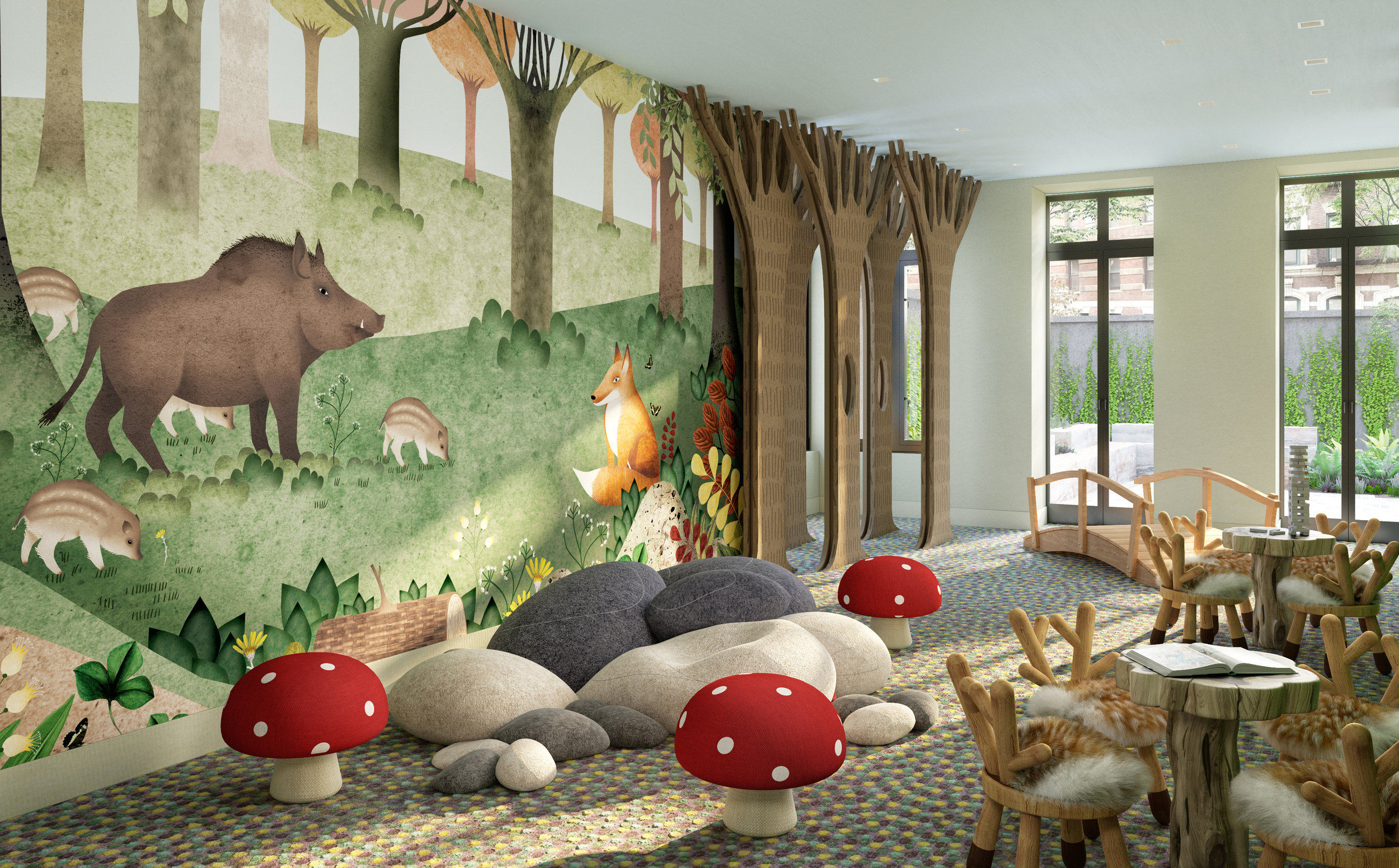 Vandewater Kids' Playroom Rendering