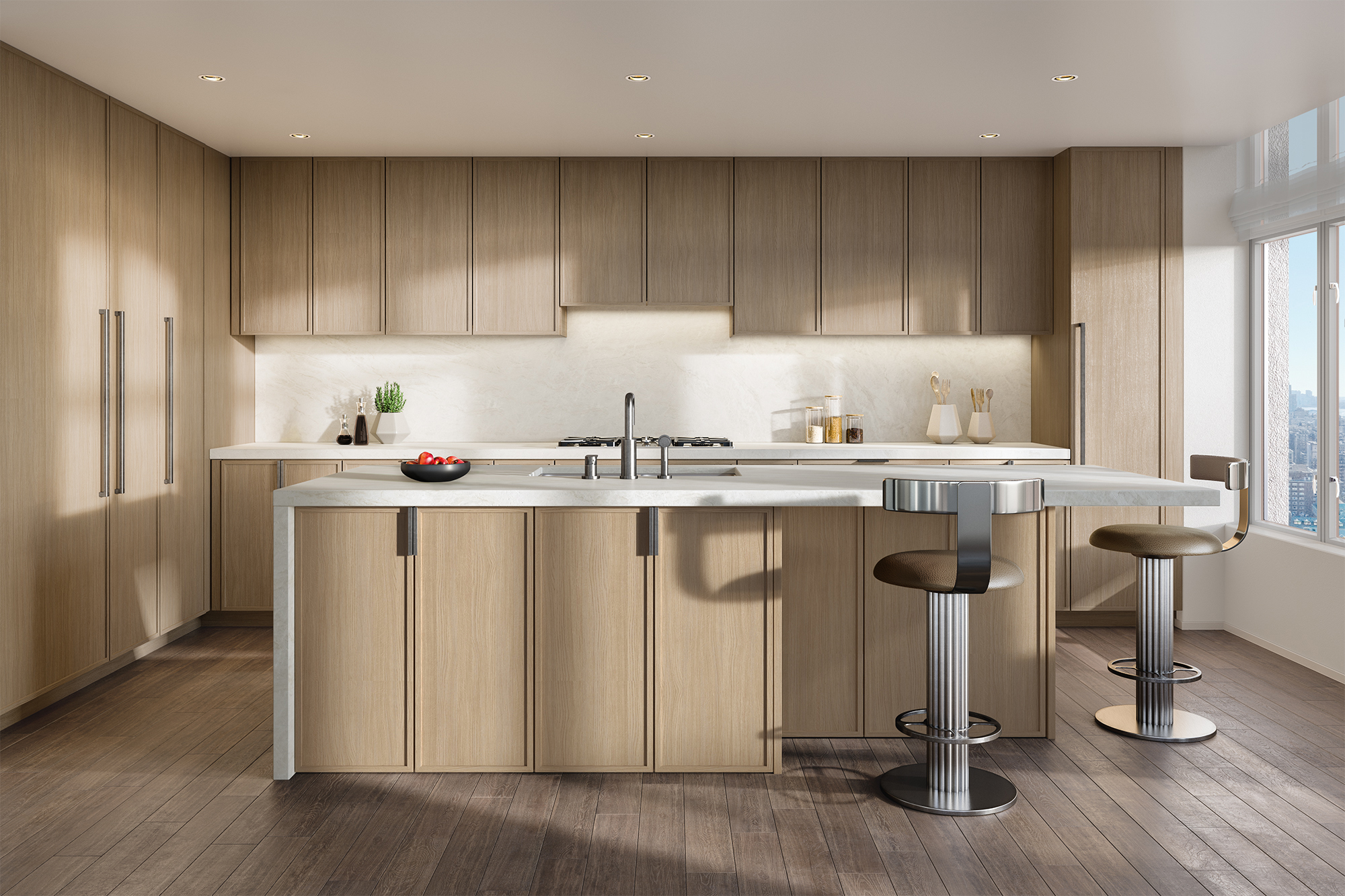 Vandewater Kitchen with Light Finish Rendering