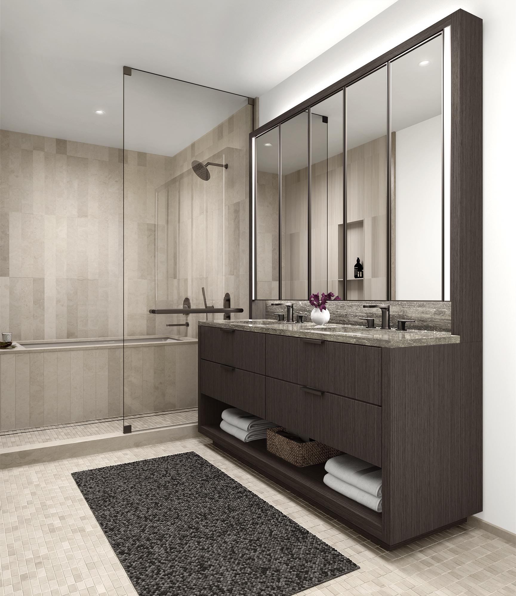 Vandewater Master Bathroom Rendering