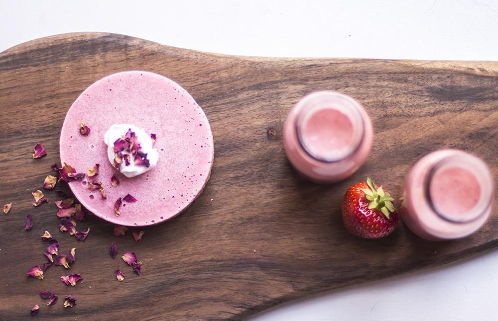 strawberry cheesecake vegan recipe raw 2