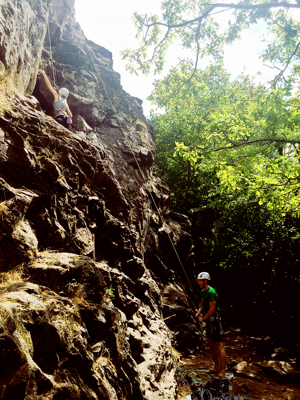 climbing in mervent forest