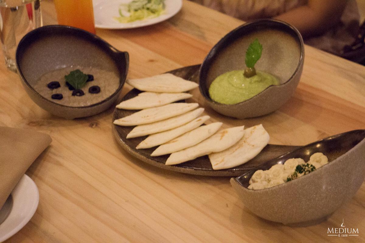 Selection of Hummus (clockwise) - Turki, Harra &Traditional.
