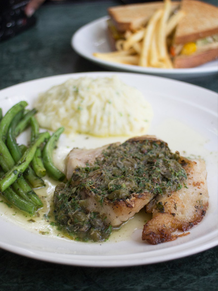 Snapper in Lemon Caper Sauce at The Flour Works.