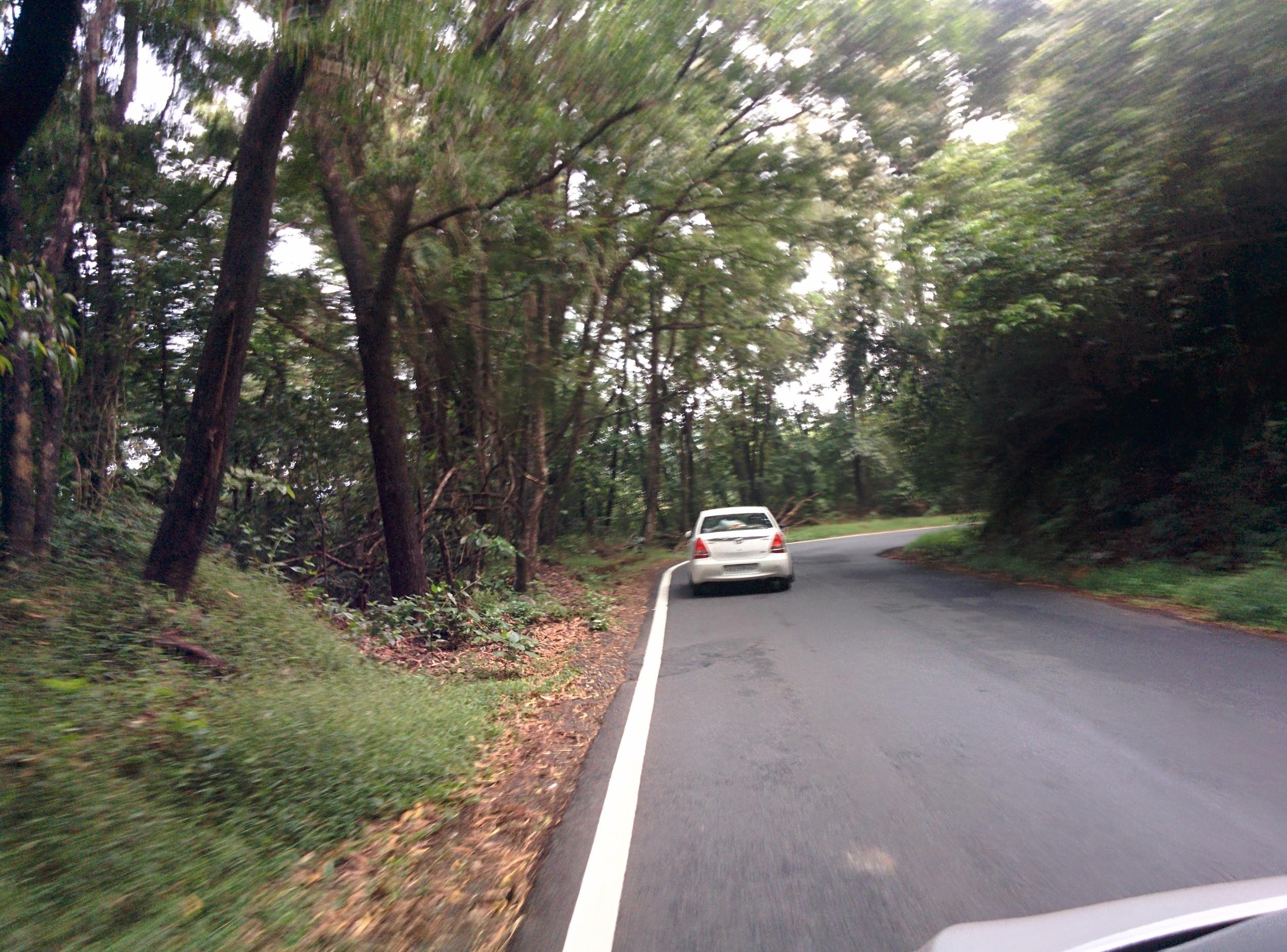 Driving through Chorla Ghat