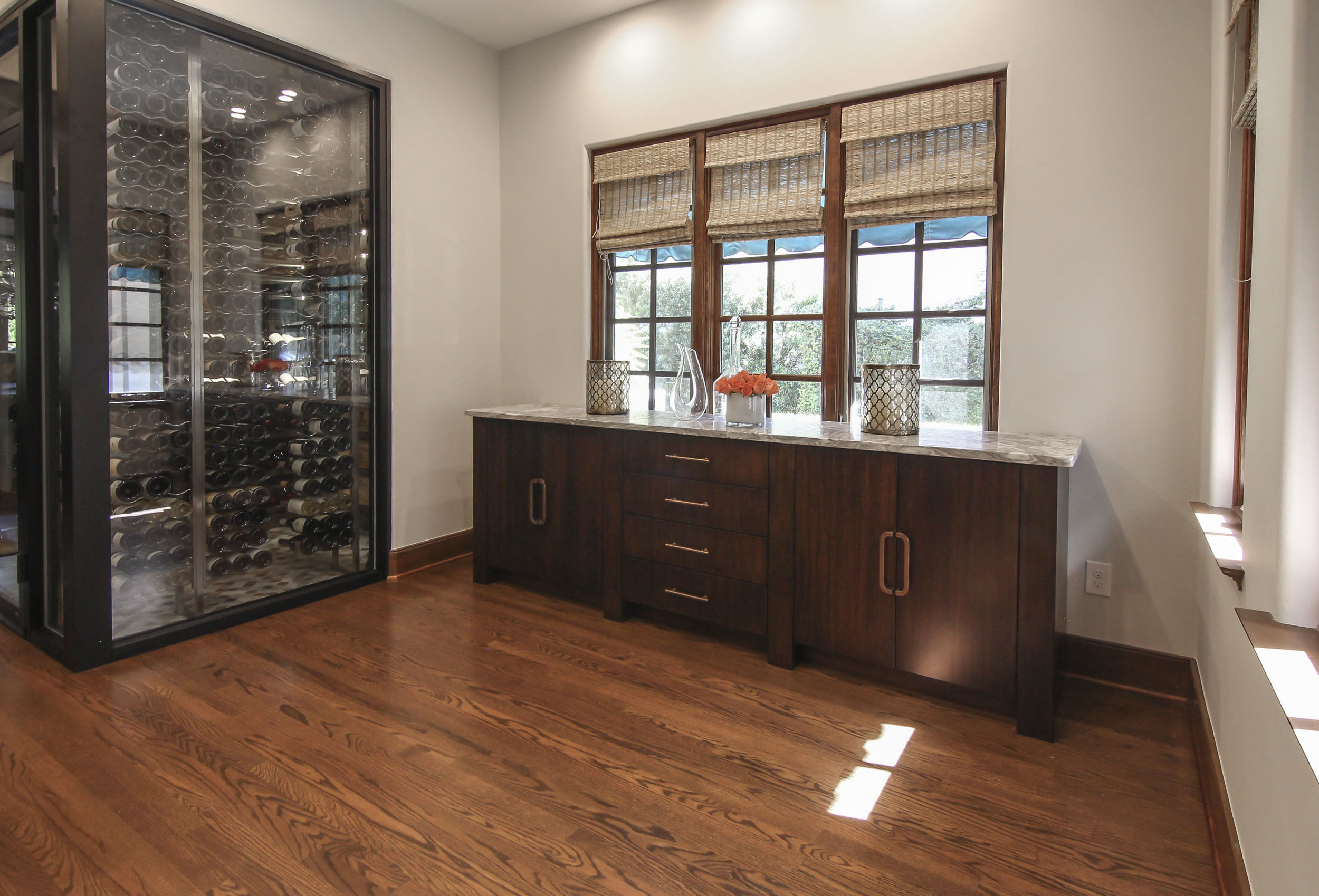 Custom Buffet and Wine Room