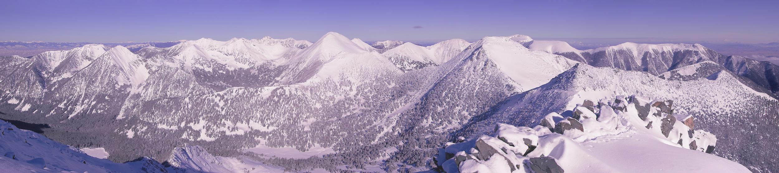 The summit of Thompson Peak, just above Bell Lake.