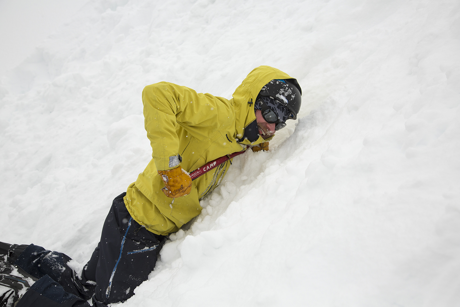 Learn self-arrest techniques with Big Sky Backcountry Guides