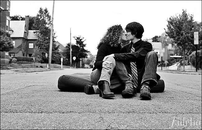 couple in road