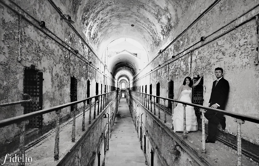 Eastern State Penitentiary couple
