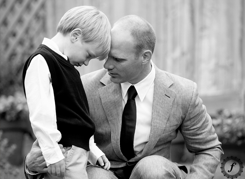 father and son at wedding