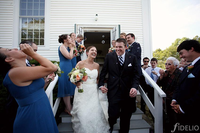 just married - Ridge Baptist Church, Tenants Harbor, Maine