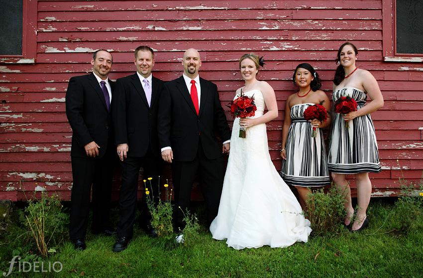 wedding party at Red Barn Inn