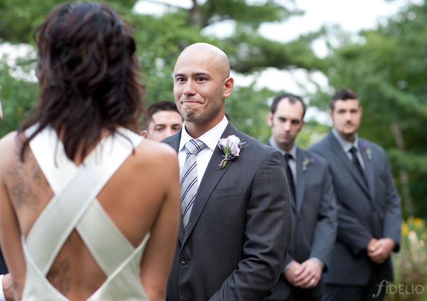 groom during ceremony