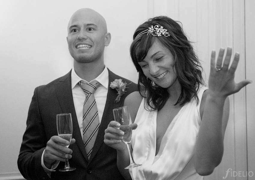 wedding toast bride & groom