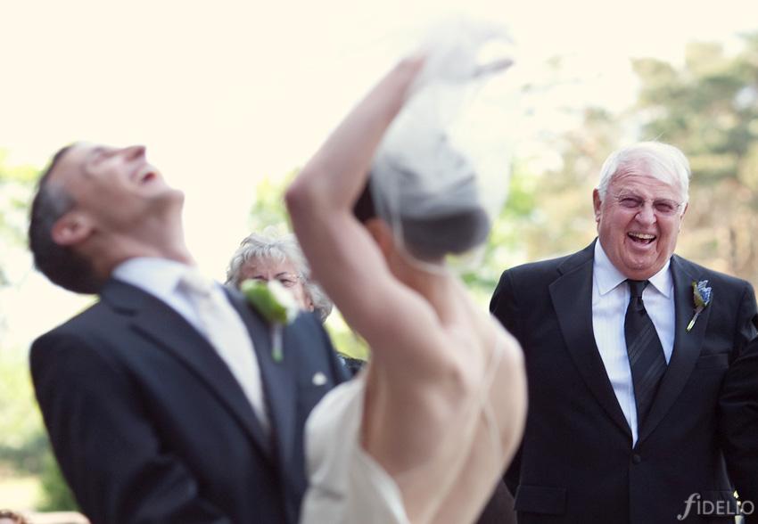 happy groom & bride
