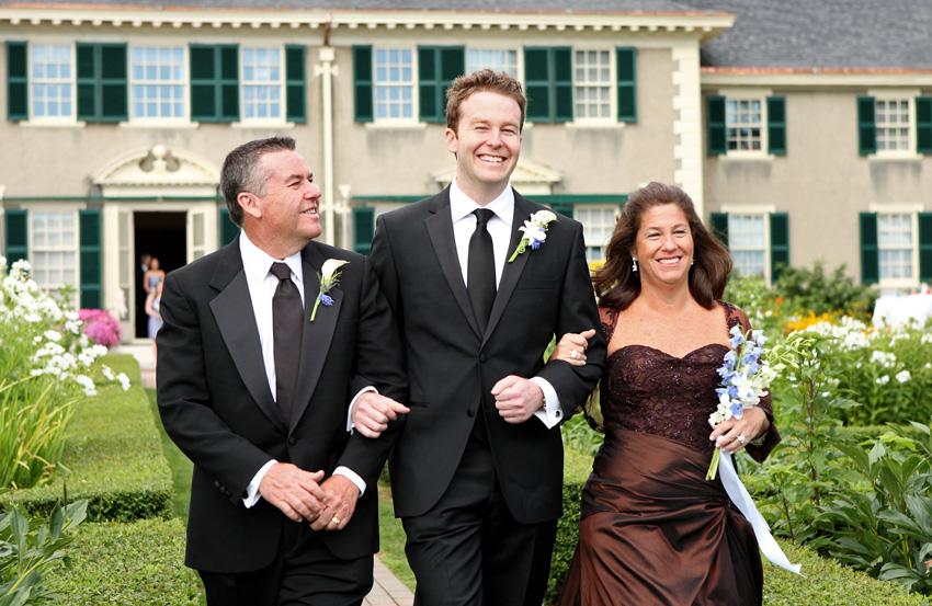 groom and parents - Hildene