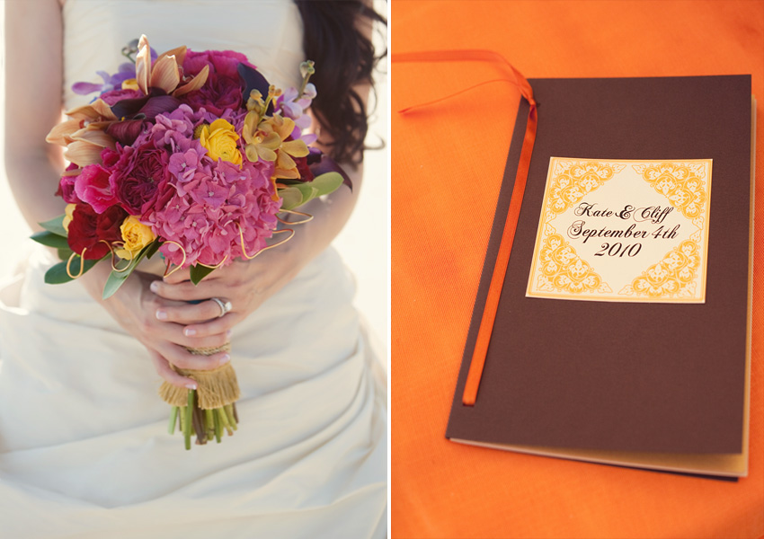 flowers and sign-in book
