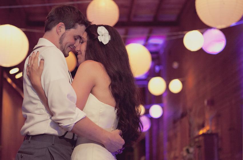 bride & groom dance