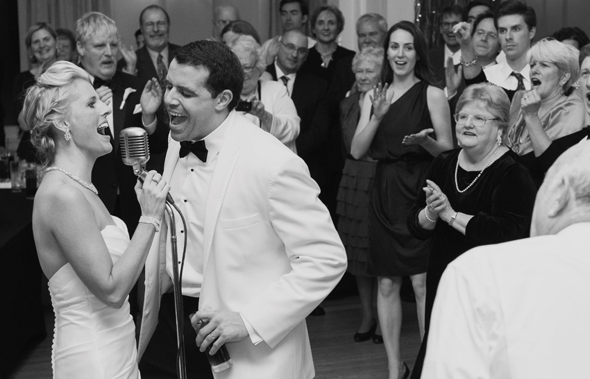 bride & groom singing, Mt Washington Hotel