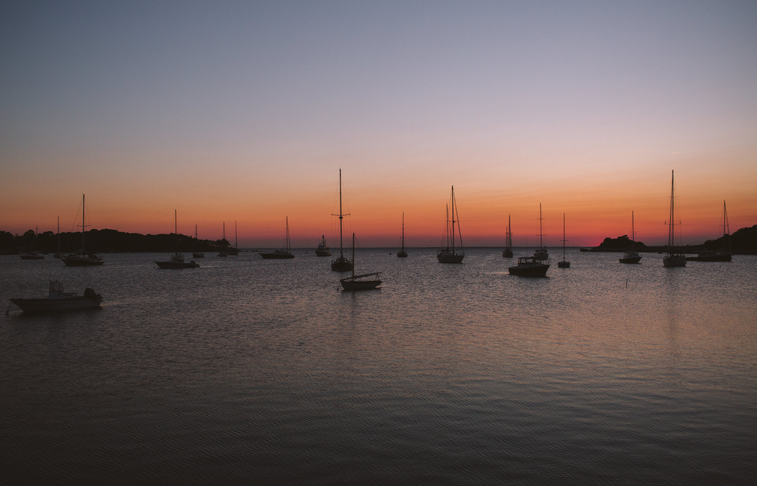 cape cod boats sunset