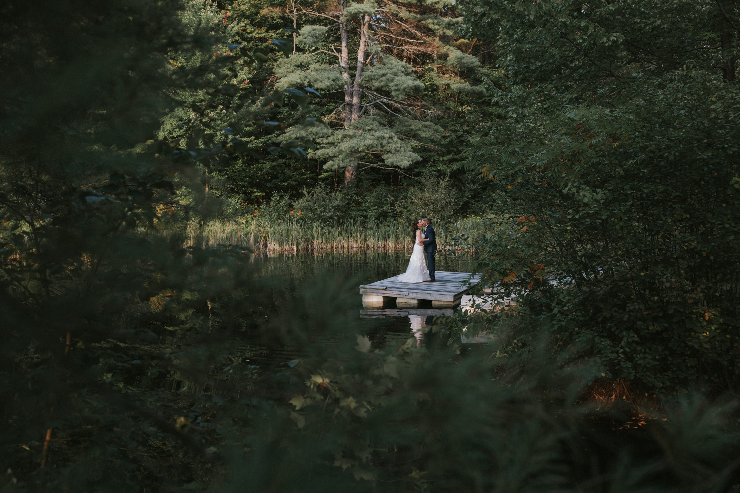 New Hampshire moody wedding photography