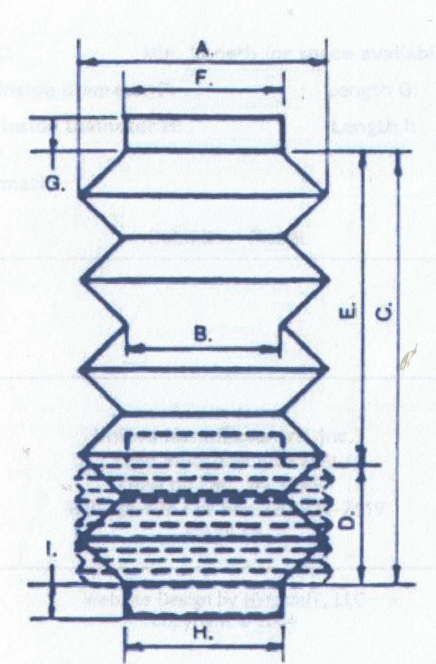 Flanges:  The inside and outside diameter of both ends  Collars:  The inside diameter and length of both ends