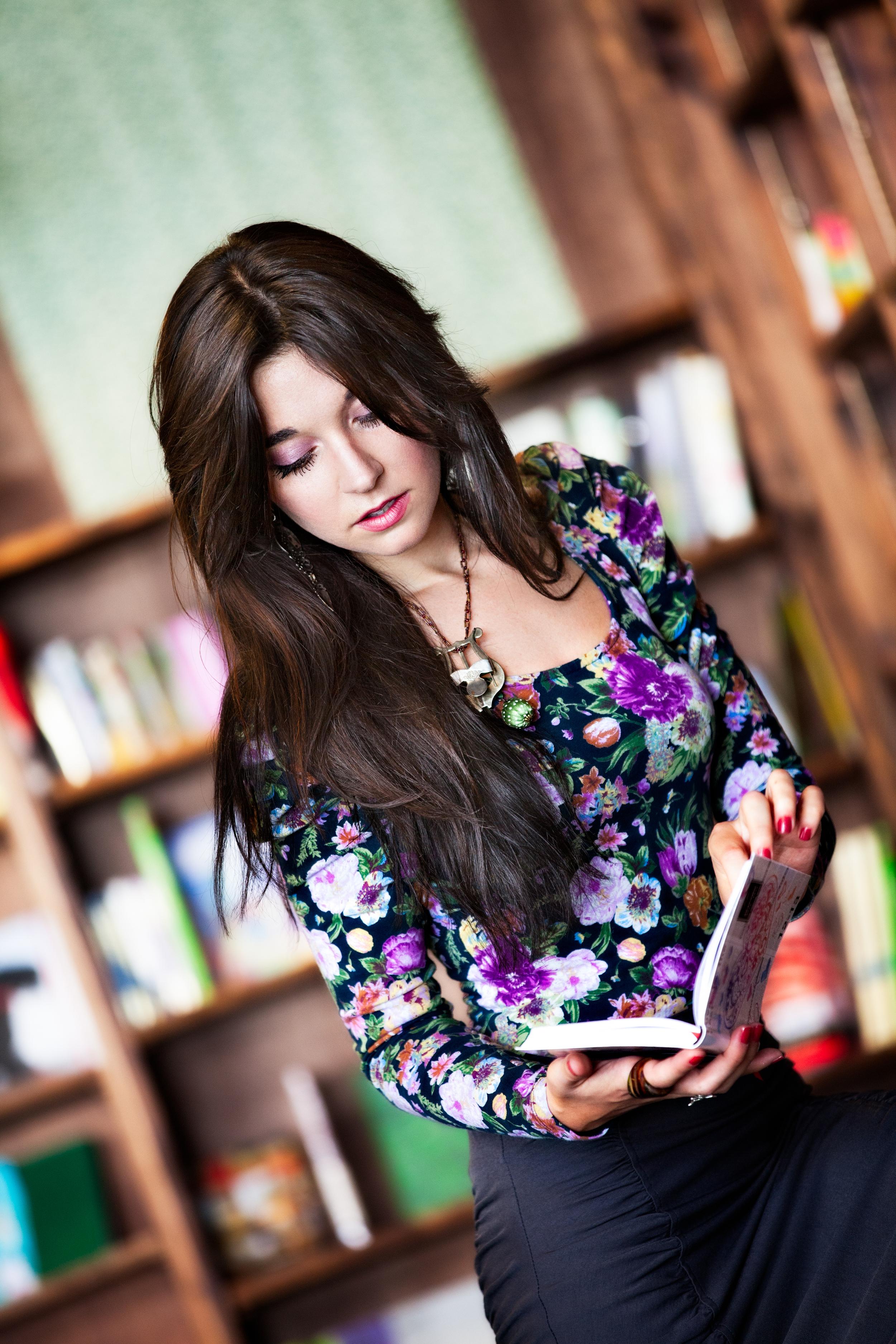 Photographer: Vidhi Thakur  Model: Talya Vylyt Location: Tattered Cover Book Store,  Denver, Colorado