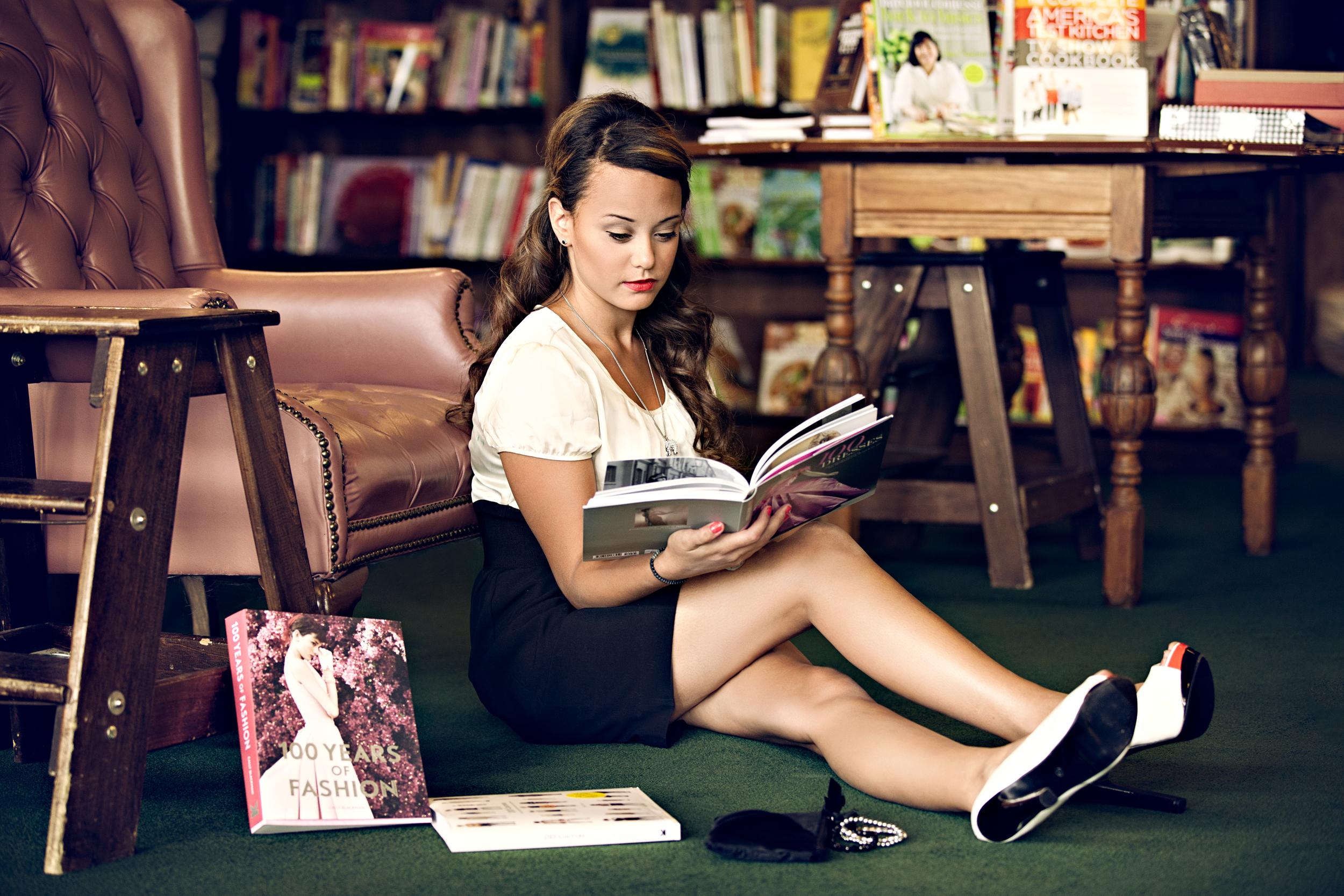Photographer: Vidhi Thakur  Model: BreeAnna Hilsenrath Location: Tattered Cover Book Store,  Denver, Colorado