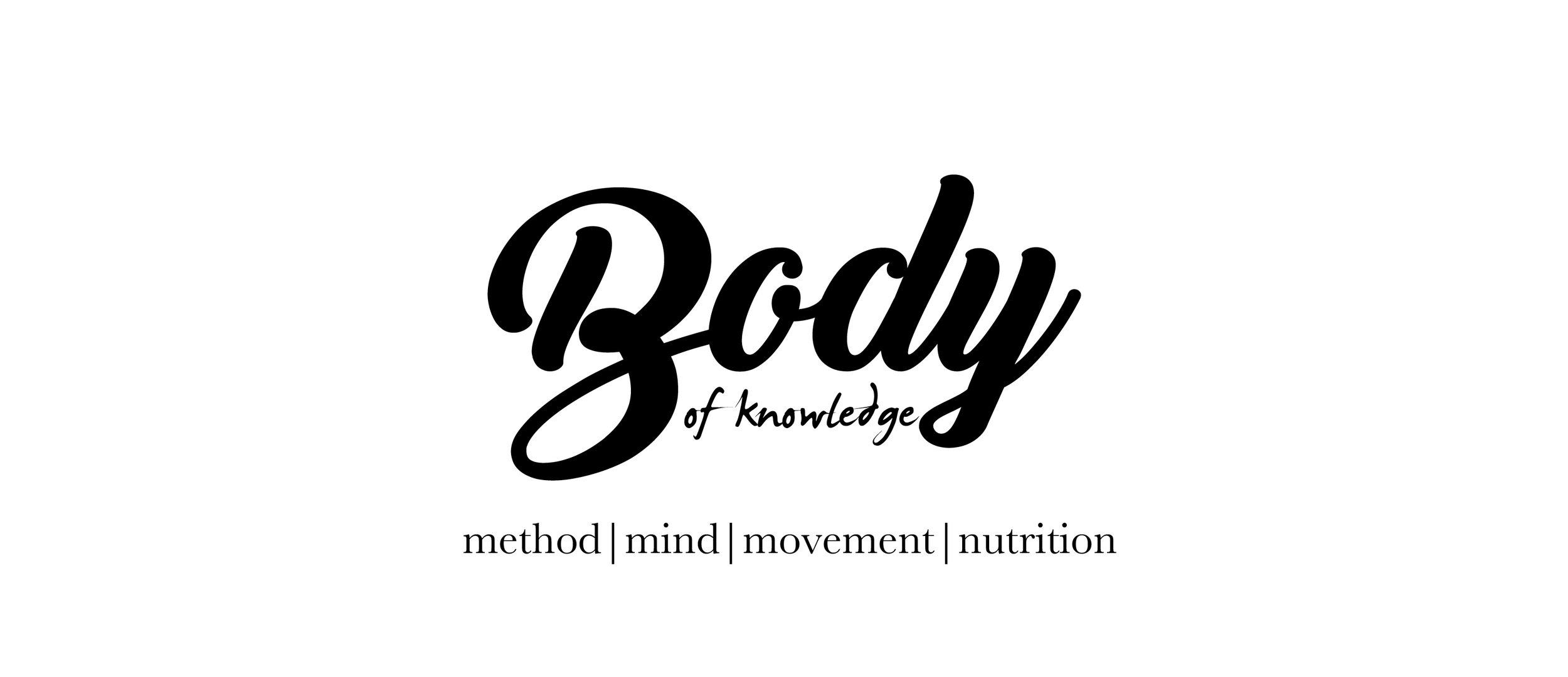 B ody of Knowledge  ,Branding, Website Design, Copywriting.