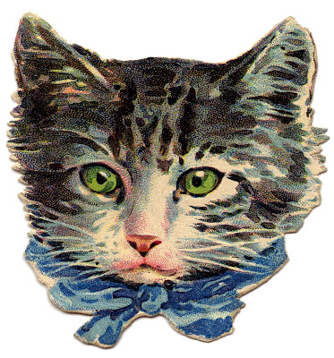 Vintage Kitty from The Graphics Fairy