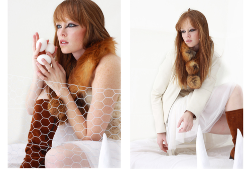 TUSK Winter 2010 Feature Creative Direction and Photography by Denise Faddis Model  Aja Warren