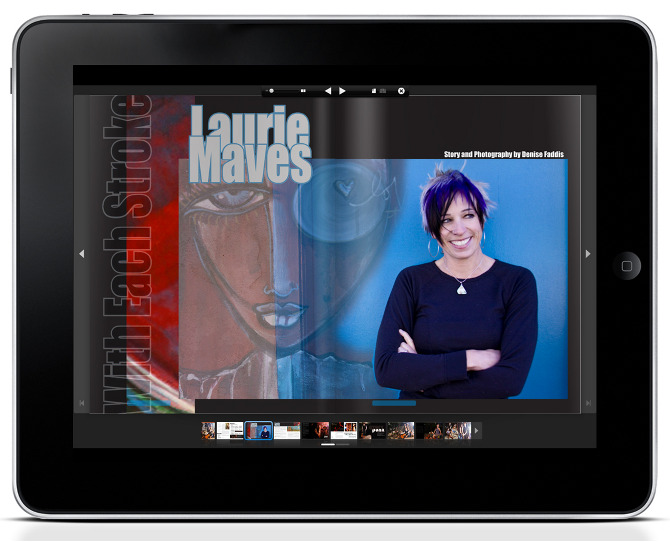 TUSK Magazine: Graphic Design and Photography by Denise Faddis Featuring Artist Laurie Maves
