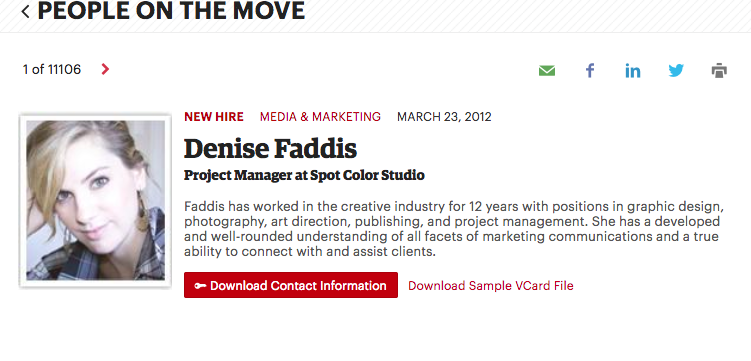 Denise Faddis_People on the Move, Portland Business Journal