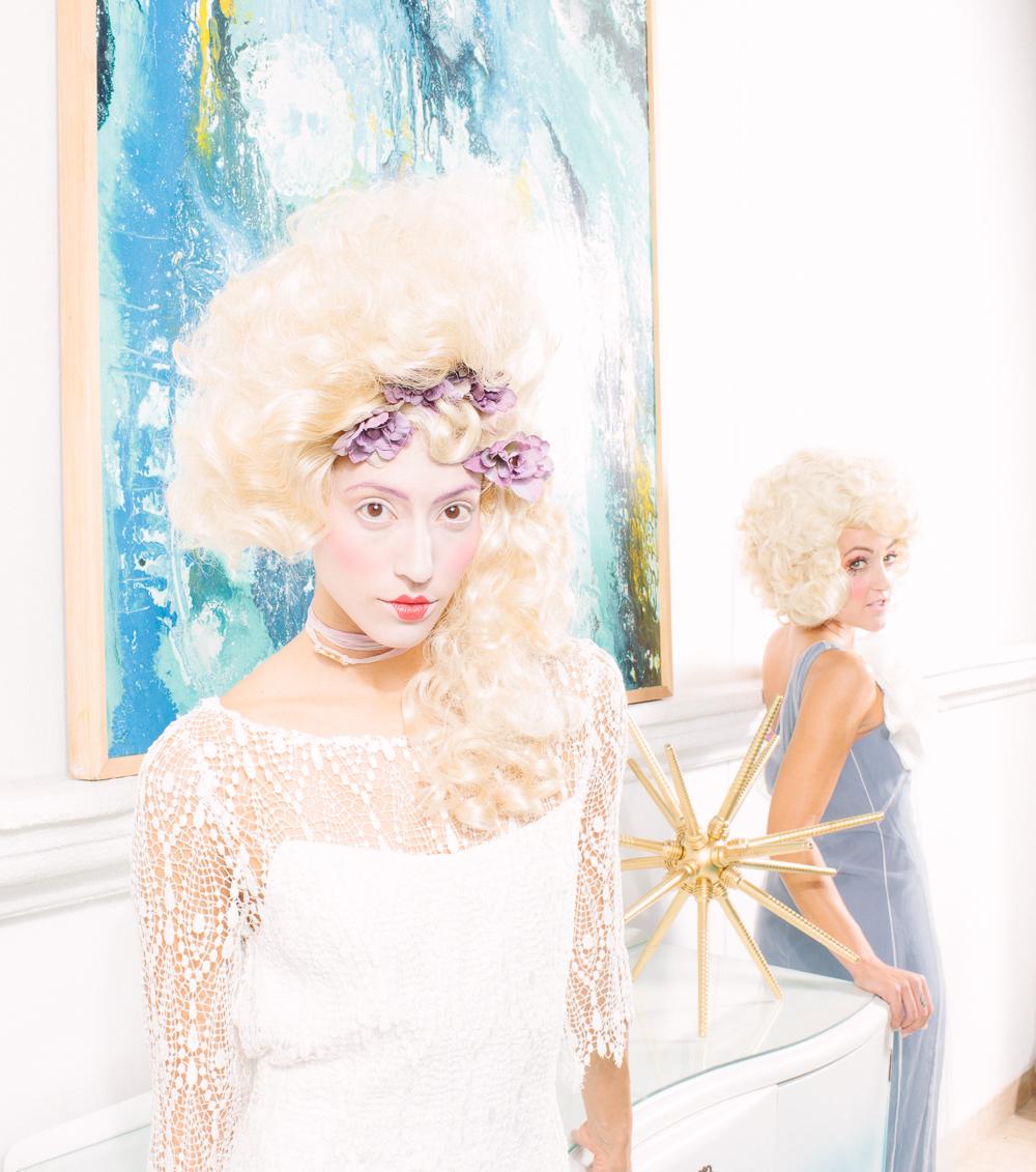 Front Model: Olivia Jordan Dress: Ivana Krejci / Back Model: Stephanie Slayton Dress: Jessica Ciarla Jewelry: Eliza Page