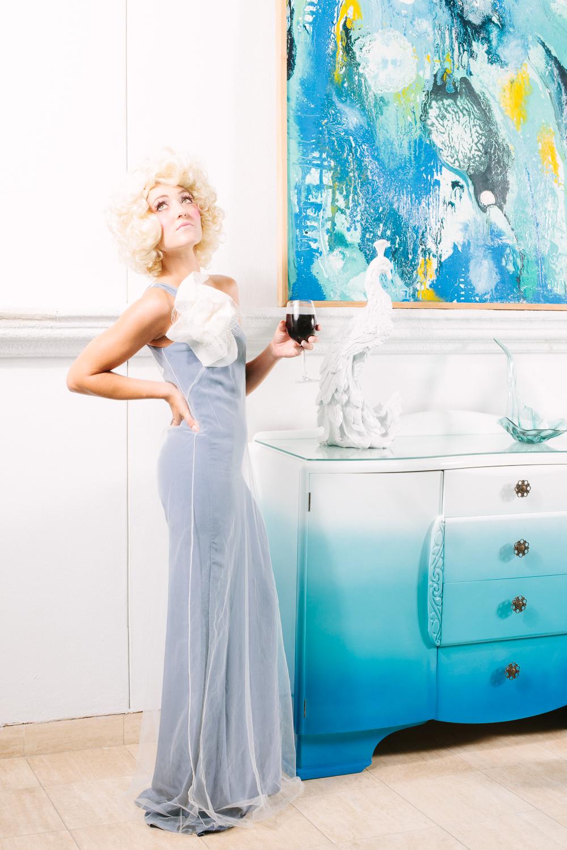 Model: Stephanie Slayton Dress: Jessica Ciarla Jewelry: Eliza Page