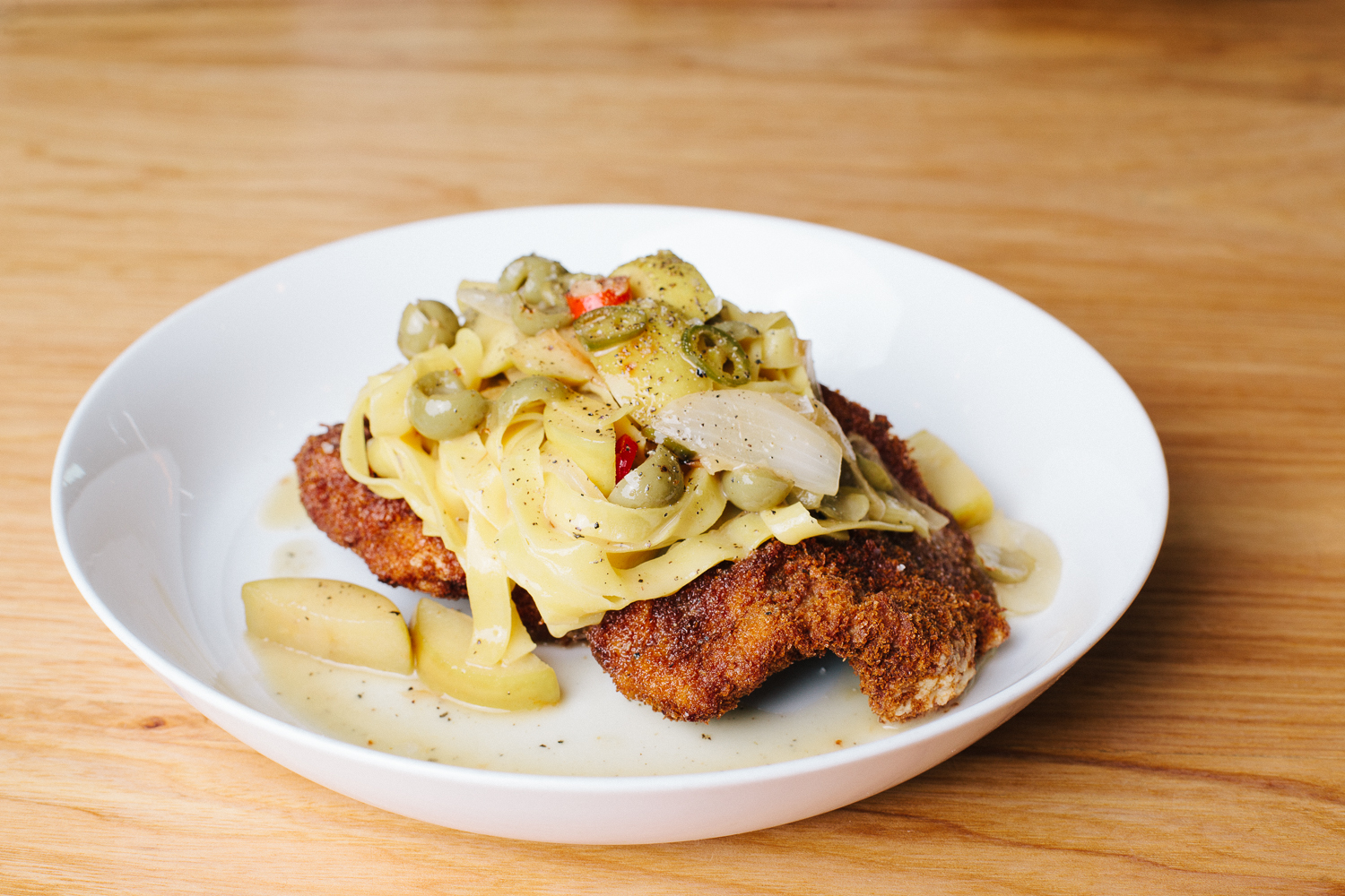 Breaded Pork Chops and Pasta