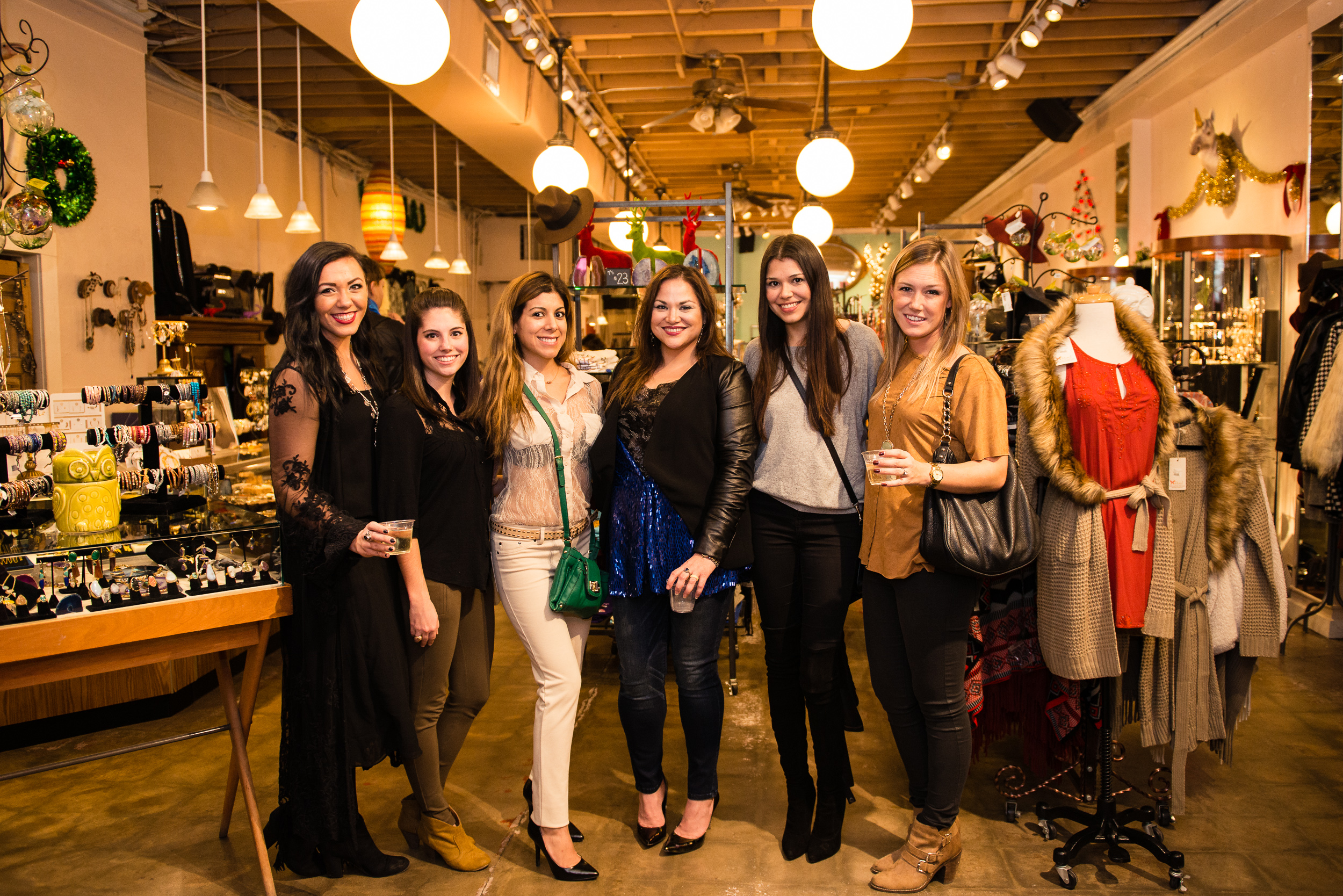 SixChel Holiday Trunk Show - Victoria Ann (Fashion Avenue East), Kimberly Burke (Little Bitty In the City), Elisa Botello (Austin Moms Blog), Dina Chávez, Betsy Martinez (Hello Tuesday), Marguerite McKenna (The Autumn Girl)_Photo Credit Peter Tung.jpg