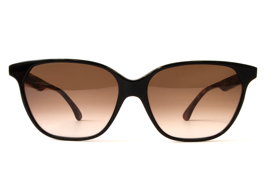 AUDREY BLACK ON TORTOISE GRADIENT LENSES