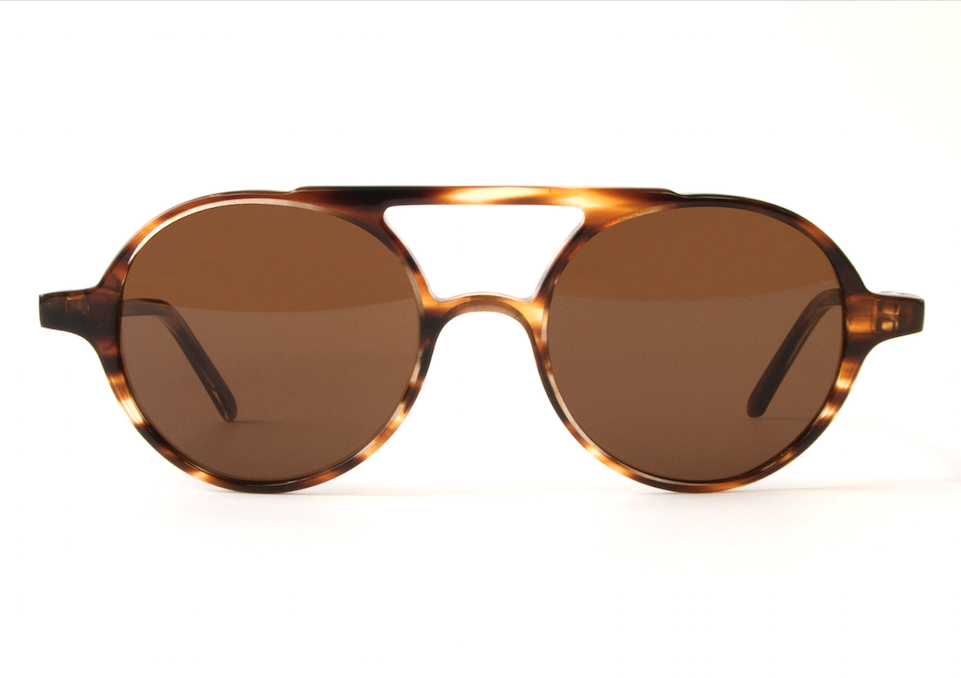 VOYAGER STRIPED HAVANA BROWN LENSES